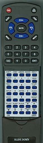 (Replacement Remote for Genesis GT3.0, GT30, 100580 RV Entertainment System)