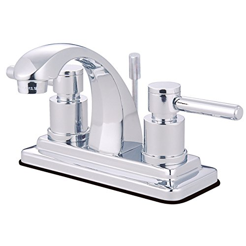 Kingston Brass KS4641DL Concord 4-Inch Centerset Lavatory Faucet with Concord Lever Handle, Polished ()