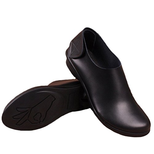 Vogstyle Zapatos Hecho a mano Vintage Flat de Mujer Con Velcro Negro