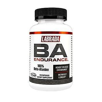 Labrada Nutrition BA Endurance 100% Beta-Alanine, 120-Count Capsules