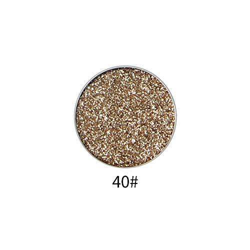 Single Glitter Eyeshadow Powder,haluoo Single Color Shimmer Pearl Pressed Glitter High Pigmented Long Lasting Intensity Eye Shadow Metallic Eyeshadow Smoky Waterproof Makeup Cosmetic (J)