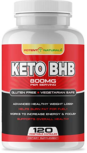 Sale!!! Keto BHB | Weight Loss | Exogenous Ketogenic Diet Supplement Beta Hydroxybutyrate Salts | Fast Fat Burner Capsules/Pills for Men & Women + Boosts Energy + Vegan Safe | 120-Vcaps | Made in USA