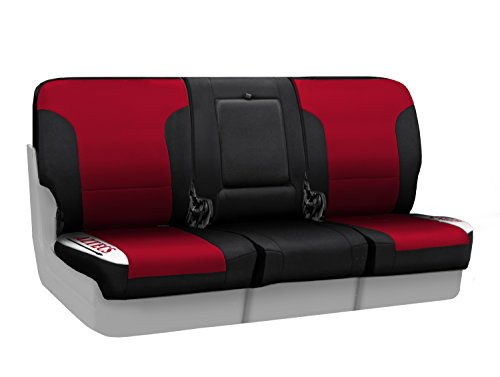 Coverking Custom Fit Front 40/20/40 NCAA Licensed Seat Cover for Select Nissan Titan Models - Neosupreme (San Diego State University) by Coverking