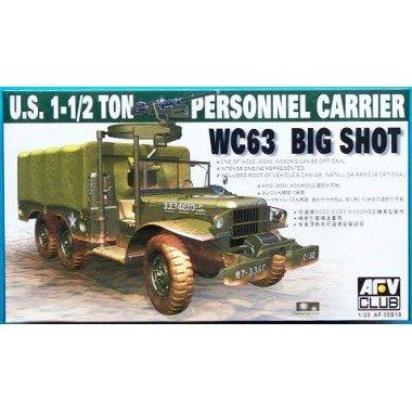 (AFV Club Models 1/35 WC-63, Dodge G-507, 1 1/2 ton, 6x6 Cargo Truck)