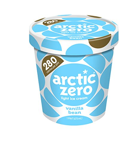 Pack of 6, Arctic Zero Light Ice Cream, Vanilla Bean  Pint (Best Arctic Zero Ice Cream Flavors)