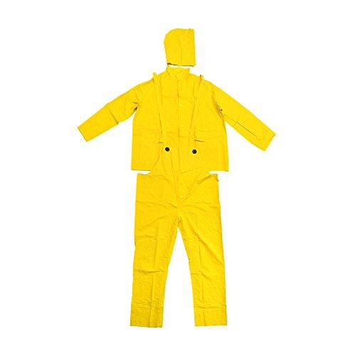 Falcon 201-3504X Premium 3-Piece Rain-Suit, Rain-Coat, Rain-Jacket, Size 4XL (5 Pack)