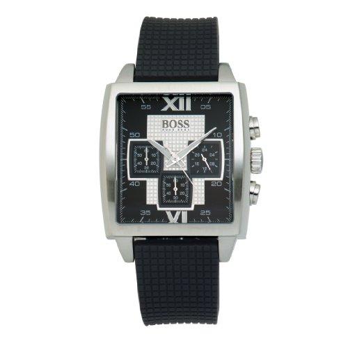 Hugo Boss Women's Black Rubber Stainless Steel Case Mineral Glass Watch 1512442