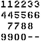 Parking Lot Numbers Stencil - 4 inch - 7.5 mil standard