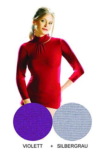 e.FEMME - Camiseta de manga larga - para mujer Violett, Silbergrau