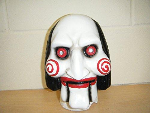 WRESTLING MASKS UK Men's Billy The Puppet Saw Movie Jigsaw Fancy Dress Mask One Size Multicoloured ()