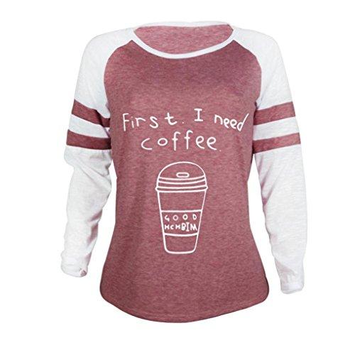 Rouge Fille Sweat Ados Rayures Couleurs Femme Manche Shirt Courtes Chic Losse Beaucoup t Longue SANFASHION Manches 2 Uni Sweatshirt de T7zp7w
