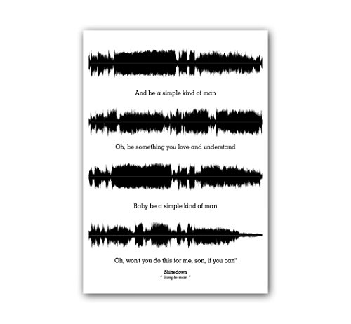 Lab No. 4 and be a Simple Kind of Man Simple Man Song Soundwave Lyrics Music Poster