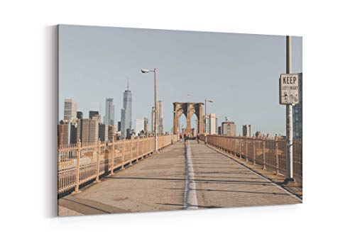 Brooklyn Bridge Runner and Sightseeing in New York United States - Canvas Wall Art Gallery Wrapped 18