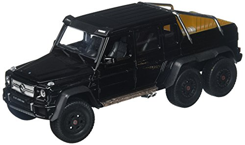 Welly Collection 1:24 2014 Mercedes-Benz G 63 AMG 6x6 Truck Diecast Model Car, Black (1 6 Scale Model)
