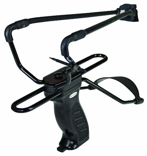 ctor Elite Slingshot with Adjustable Sight, Built-in BB Magazine and Leather Pouch (Gamo Sight)