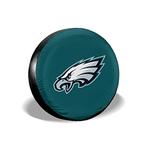 (Sorcerer Design Colorful Waterproof Tire Cover Philadelphia Eagles American Football Team Unisex Protection Spare Covers Storage Wheel Cover for Car Off Road)