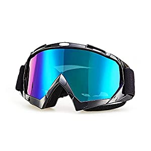 Motorcycle Goggles, CarBoss Anti UV Safety Eye Protection Anti-Scratch Dustproof Motocross Motorbike Goggle Great Idea for Snow Skiing, Cycling, Climbing, Riding & Outdoor Sports Eyewear Colorful Lens from CarBoss