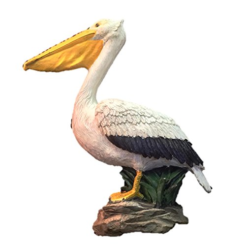 Homestyles 20 in. Pelican Bronze Collectible Beach Statue on Coastal Rock