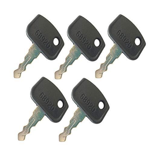 5 Ignition Keys PL501-68920 for Kubota B26 BX1860 BX2360 BX25 BX2670 KH-151 KH-191 RTV500 RTV900 -  backhoe, 68920 Key