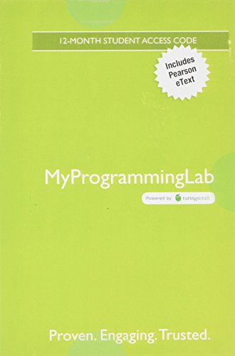 MyLab Programming with Pearson eText -- Access Code Card -- for Introduction to Java Programming, Brief Version (My Programming Lab) by Pearson