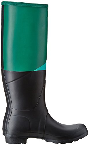Hunter Wmn Org Aysm Cblock, Stivale in Gomma Donna, Verde/Acquamarina/Nero, EU 39 (UK 6)