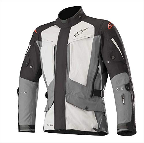 Yaguara Drystar Waterproof Textile Motorcycle Jacket for Tech-Air Street Airbag System (XL, Black Dark Gray Mid Gray)