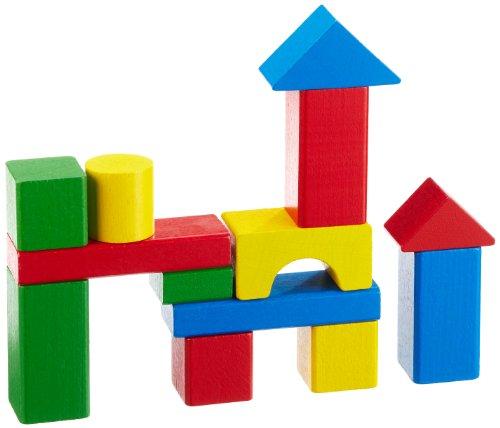 HEROS 100050401 - Holzbausteine Baby-Box 50 teilig - extra große Bausteine für Babys - in Trommel zur Aufbewahrung - Buchenholz - Made in Germany