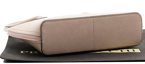 d97aac40aff Primo Sacchi Italian Smooth Leather Hand Made Classic Long Handled Handbag  Tote Grab Shoulder Bag