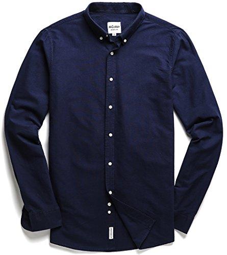 Navy Blue Button Down Shirt - 6