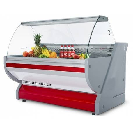 Expositor réfrigéré profesional - 100% acero inoxidable - 2,5 x 1 ...