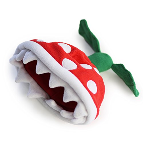 Hashtag Collectibles Piranha Plant Beanie Red ()