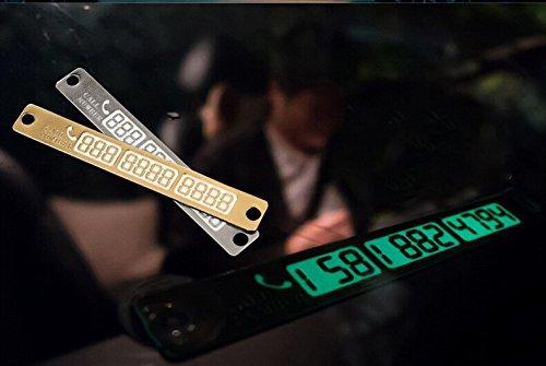 AndyGo® Car Temporary Parking Card Luminous Phone Number