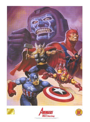 (Avengers Lithograph By Alex Horley)