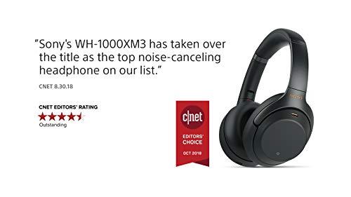 شراء Sony Noise Cancelling Headphones WH1000XM3: Wireless Bluetooth Over the Ear Headphones with Mic and Alexa voice control - Industry Leading Active Noise Cancellation - Black