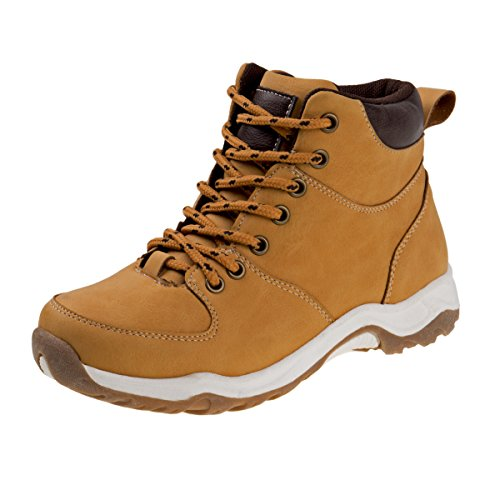 Joseph Allen Boys Hiking Style Comfort Work Boots, Tan, Size 11' - 11' Brown Boot