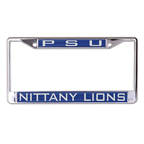 WinCraft NCAA Penn State Nittany Lions Inlaid Metal License Plate Frame, 2-Tag Corners