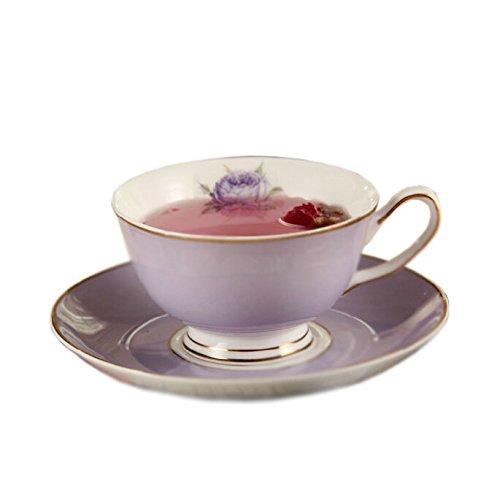 Elegant Coffee Cup Beautiful Gold Line Cafe/Home-Use Tea Cup PURPLE