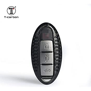 Amazon.com: Fibra de Carbono Key Fob Cubierta para Nissan ...