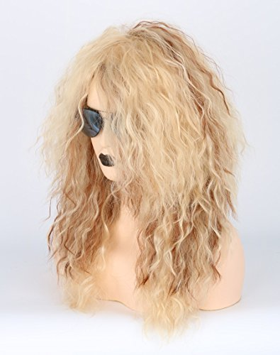 Men or Women 80s Clothes Fashion Wig Rocker Mullet Metal Halloween Costume Wig Blonde Curly by Toposplay (Image #2)