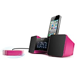 iLuv Vibro II Alarm Clock 30-Pin Speaker Dock with Bed Shaker (Pink) (Discontinued by Manufacturer)