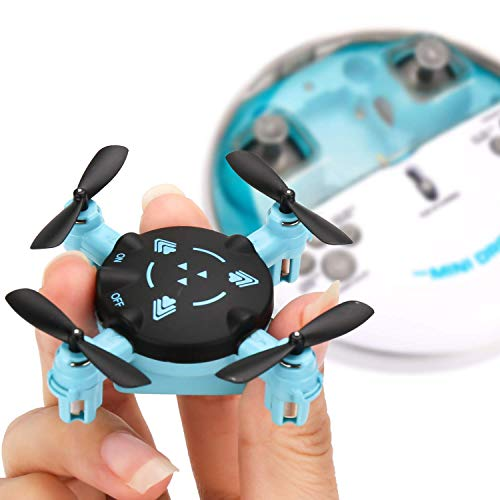 IMZ Mini Nano Drone with Altitude Hold and Headless Mode RC Quadcopter with 3D Flips and High Speed Spin Function,Portable Pocket Drone for Kids & Beginners - Blue