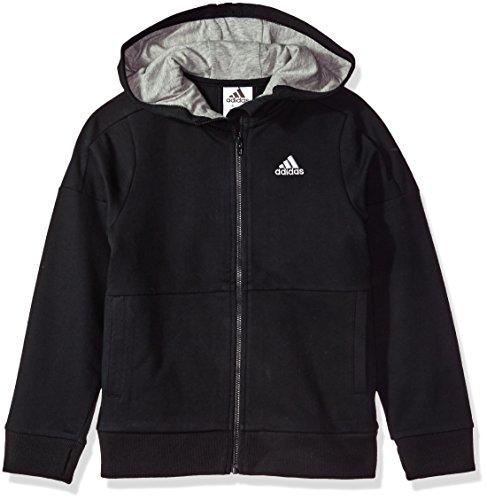 adidas Boys Big Athletics Jacket, Black, L (14/16)