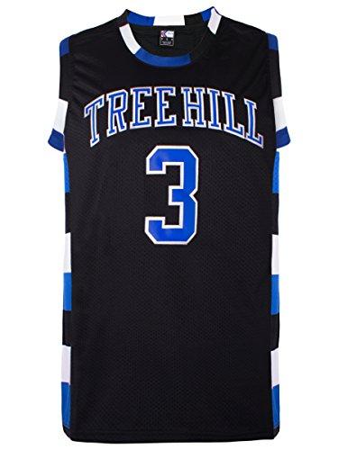 MOLPE Lucas Scott #3 Tree Hill Ravens Basketball Jersey S-XXXL Black (M) (Tree Hill Ravens Jersey)