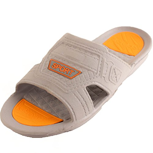 Sport Gt Mens Active Slip On Sandali Slide Classic Grigio