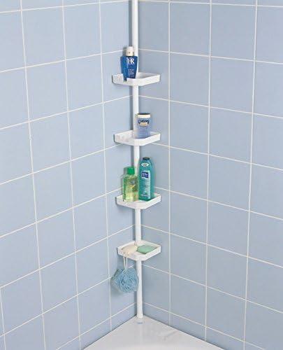 Estantería de ducha telescópica Estantería esquinera de baño ...