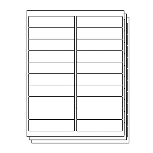(OfficeSmartLabels Rectangular 4 x 1 Address/Mailing Labels for Laser & Inkjet Printers, 4 x 1 Inch, 20 per sheet, White, 3000 Labels, 150 Sheets)