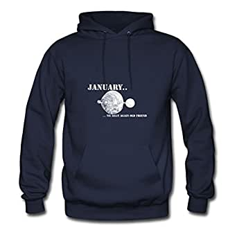 Women January (2) Hoodies -x-large Elegent Print Navy
