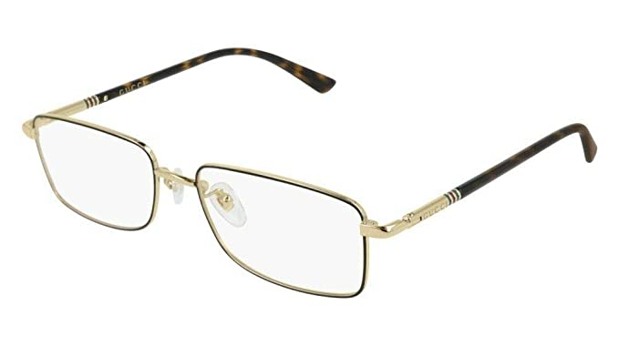 7311a2f8f28 Image Unavailable. Image not available for. Color  Gucci GG0391O 006  Eyeglasses Black Gold Havana Frame 55mm