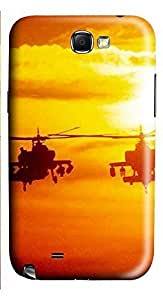 Samsung Note 2 Case Helicopter Military 3D Custom Samsung Note 2 Case Cover WANGJING JINDA