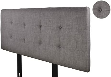 MJL Furniture Designs Ali Padded Bedroom Headboard Contemporary Styled Bedroom D cor, HJM100 Series Headboard, Gray with Red Tint Finish, Eastern King Sized, USA Made